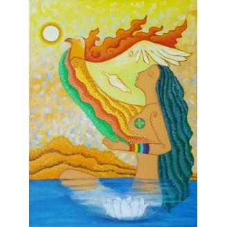 Картина Възраждам се. Аз съм. Огън. Земя. Въздух. Вода - # К-00002