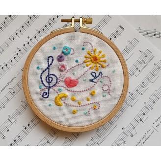 Бродерия Музиката в мен - # Бр-00013