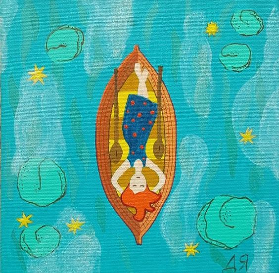Картина Акрил - По реката