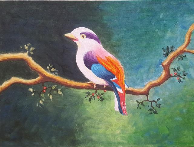 Картина Масло - Пролет в крилата
