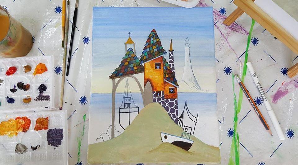Рисувам с акварел