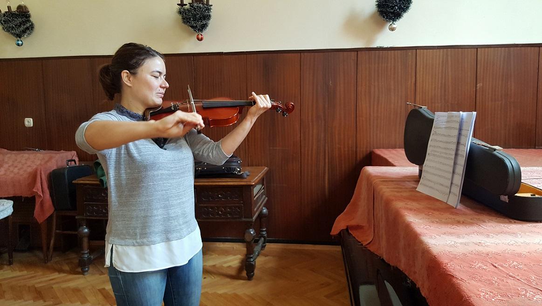 Урок по цигулка